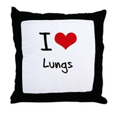 I Love Lungs Throw Pillow