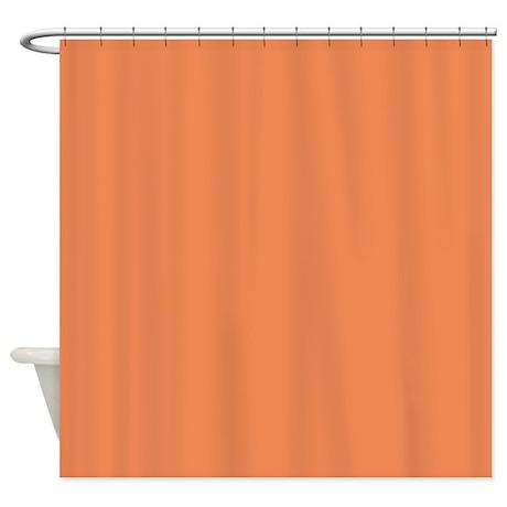 Light Orange Shower Curtain