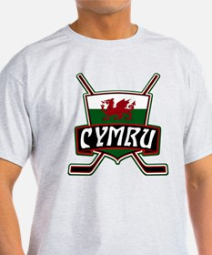 Wales Welsh Ice Hockey Shield T-Shirt