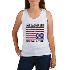 Impeachment Deserves a Vote! Women's Tank Top