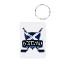 Scottish Scotland Ice Hockey Shield Keychains