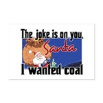 Joke is on you, Santa Mini Poster Print