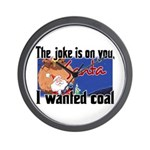 Joke is on you, Santa Wall Clock