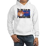 Joke is on you, Santa Hooded Sweatshirt