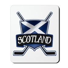 Scottish Scotland Ice Hockey Shield Mousepad