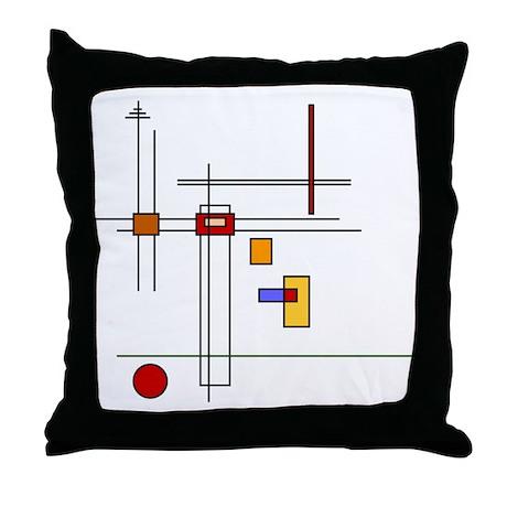 Skware Skare Throw Pillow