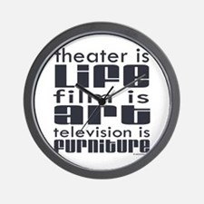 Theater is Life Wall Clock
