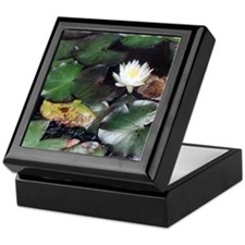 Water Lily Tile Keepsake Box