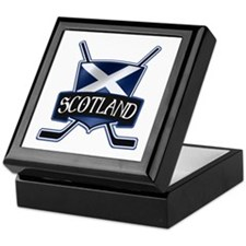 Scottish Scotland Ice Hockey Shield Keepsake Box