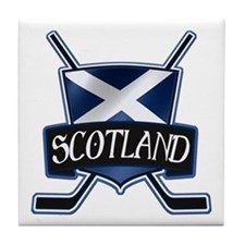 Scottish Scotland Ice Hockey Shield Tile Coaster