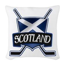 Scottish Scotland Ice Hockey Shield Woven Throw Pi