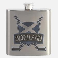 Scottish Scotland Ice Hockey Shield Flask