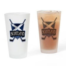 Scottish Scotland Ice Hockey Shield Drinking Glass