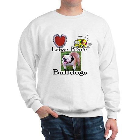 Love, Peace, Bulldogs Sweatshirt