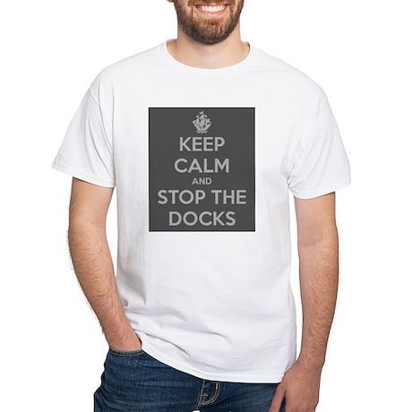 BW Keep Calm White T-Shirt - Men's or Women's Whit