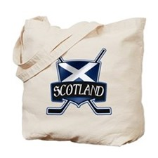 Scottish Scotland Ice Hockey Shield Tote Bag