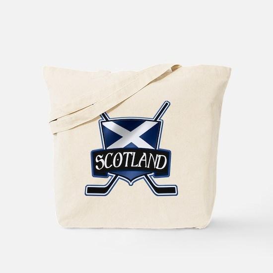 Scottish Scotland Ice Hockey Shield Tote Bag
