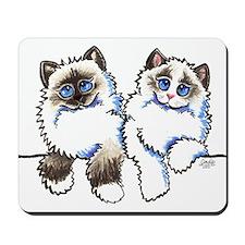 Ragdolls Pair Off-Leash Art™ Mousepad