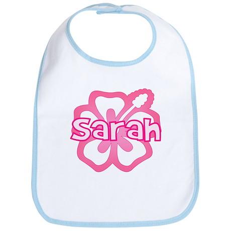"""Sarah Pink Hibiscus"" Bib"