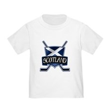 Scottish Scotland Ice Hockey Shield T-Shirt