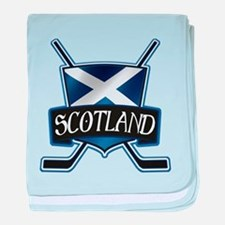 Scottish Scotland Ice Hockey Shield baby blanket
