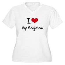 I Love My Magician Plus Size T-Shirt