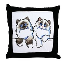 Ragdolls Pair Off-Leash Art™ Throw Pillow