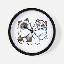 Ragdolls Pair Off-Leash Art™ Wall Clock