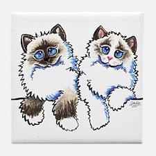 Ragdolls Pair Off-Leash Art™ Tile Coaster