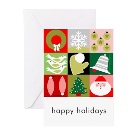 Christmas Patchwork Cards - Text