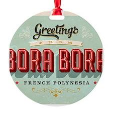 Vintage Touristic Greeting Card - B Ornament