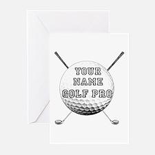 Custom Golf Pro Greeting Cards (Pk of 10)