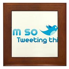 Twitter humor Framed Tile