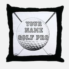 Custom Golf Pro Throw Pillow