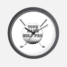 Custom Golf Pro Wall Clock