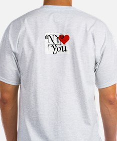 I Love SF-NY Loves You Ash Grey T-Shirt