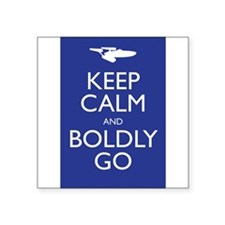 Keep Calm and Boldly Go Sticker