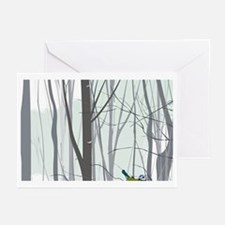 Christmas tree in the fo Greeting Cards (Pk of 20)