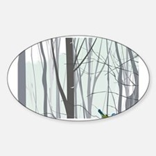 Christmas tree in the forest Decal