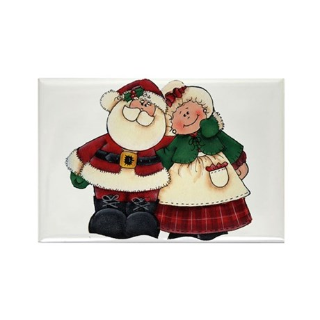 Mr. & Mrs. Claus Rectangle Magnet