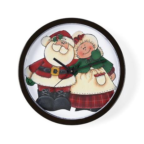 Mr. & Mrs. Claus Wall Clock