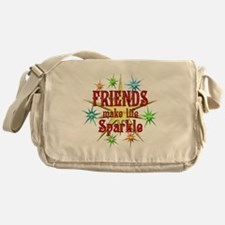 Friends Sparkle Messenger Bag