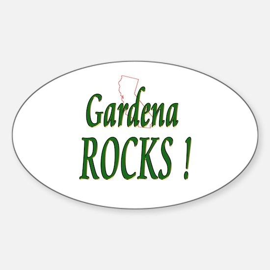 Gardena Rocks ! Oval Decal