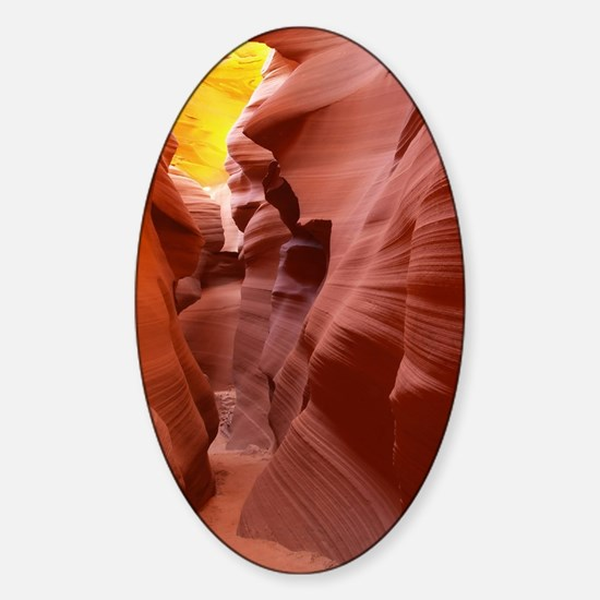The Lower Antelope Slot Canyon Sticker (Oval)
