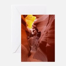 The Lower Antelope Slot Canyon Greeting Card