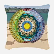 Summer Sunshine Woven Throw Pillow