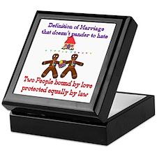 Gay Marriage Keepsake Box