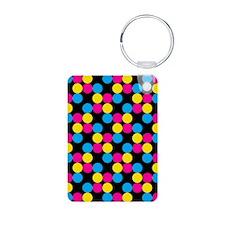 'Disco Dots' Aluminum Photo Keychain