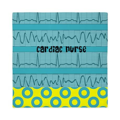 Cardiac Nurse all over 3 Queen Duvet
