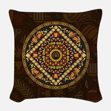 Thanksgiving Icons Woven Throw Pillow